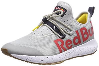 Zapatillas de la marca puma con el ogo de red bull en rojo. Exclusivas y edicion limitada.