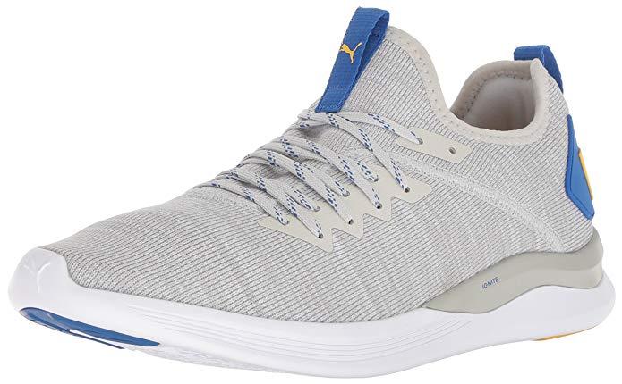 Zapatillas deportivas marca puma comodas y ligeras para deporte y andar. Color gris.