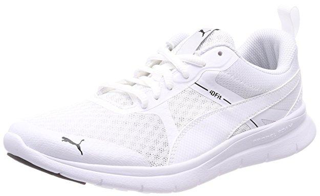 Zapatillas deportivas comodas de la marca puma en color blanco.